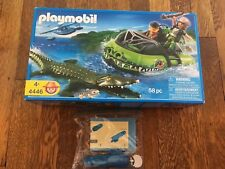 Playmobil 4446 Alligator Hunter Hovercraft & 7350 Waterproof Motor Complete