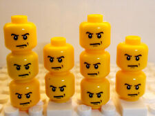 for minifigures boy man beard mustache # NEW # 6p7 Lego Male Yellow HEADS x6