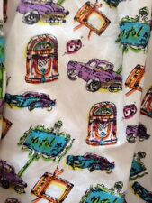 Miso Car/tv Print Cotton/Lined Skirt Size 12
