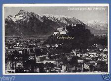 gelaufene AK Salzburg gegen Untersberg 20.8.1952