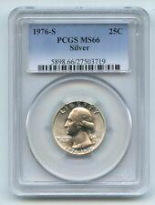 1976 S 25C Silver Washington Quarter PCGS MS66