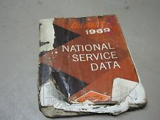 Advance 1969 National Service Data Automotive Car book