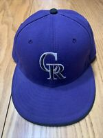Colorado Rockies MLB New Era Fitted Hat Cal Size 7-1/4 Purple 59Fifty Baseball