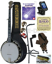 Deering Artisan Goodtime 2 Resonator Banjo 5-String Resonator USA Package Bundle