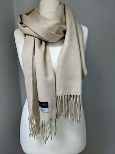 Begg & Co Scarf  ARRAN 100% Cashmere BNWT RRP £260 BEIGE LIGHT NATURAL