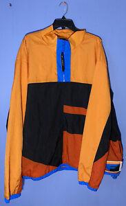 RARE!! NIKE Flight Basketball Orange Half Zip Jacket Men's CN8508-010 Size 3XL