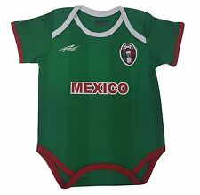 Mexico Soccer Green Baby Outfit Jumpsuit Mameluco New Made In Mexico