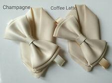 UK seller Boys Men Adult Kids Toddler champagne nude coffee latte bow tie bowtie