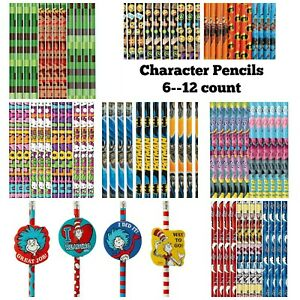 No. 2 Pencils Many Licensed Characters! Party Favors! Back to School Supplies!
