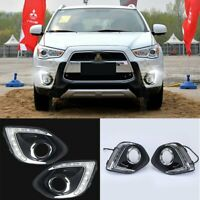 For Mitsubishi ASX Outlander Sport 13-15 LED DRL Daytime Running Fog Light Lamp