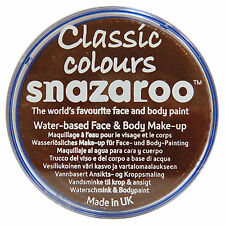 Snazaroo Face and Body Paint 18ml - Dark Brown Individual Colour