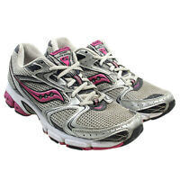 SAUCONY Grid Stratos 5 Womens Gray Pink Athletic Running Shoes Size 9