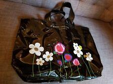 Marc Jacobs Fragrances Perfume Promo Black Vinyl Tote Bag Flowers Daisy Carryall