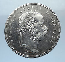 1869 HUNGARY w King Franz Joseph I Hungarian Antique Silver Forint Coin i72464