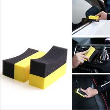 Hot 2pcs Car Tire Waxing Polishing Compound Washing Sponge Cleaning Pad Brush