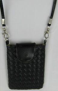 Mini sac ou pochette noir pour téléphone avec bandoulière