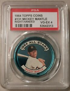 1964 Topps coins #131 Mickey Mantle All-Star (Right Handed) - PSA 4