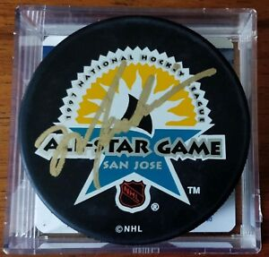 Mark Messier Signed 1997 All Star Puck - San Jose - Global Authentics