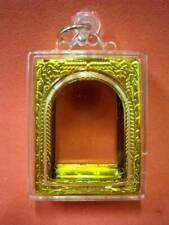 Empty Case Acrylic Plastic Casing Phra Somdej Buddha Amulet Pendant 32x23 mm.