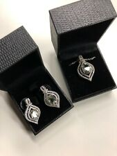 Gold Coast Platinum Plated Necklace And Earring Set Diamond Simulant