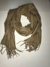 NWT Men's J.Crew Fringed-Edge Scarf Solid Brown and Red Strip