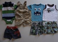 Baby Boys Size 12-18 Months Summer Clothes Lot of 7 Items L1-18 Gymboree Gap