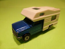 MAJORETTE 278 CAMPING CAR CAMPER PICK-UP - BLUE WHITE 1:60 - GOOD CONDITION