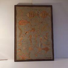 Tableau peinture soie painting silk SHANTEE milieu aquatique art moderne