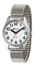 Ravel unisex white face watch with silver coloured expanding strap R0225.01.1
