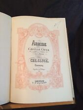 Gluck Alceste opéra partition chant piano ancienne éditions Peters