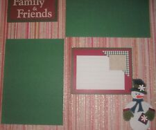 WINTER CHRISTMAS Family Friends 12 x 12  Premade Scrapbook Page Add Photo