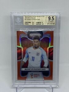 2018 Word Cup Marcus Rashford Orange Prizm /65 BGS 9.5 🍊🍊🍊💎💎💎