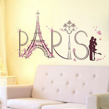 AU Home Decor Wall stickers Flower Eiffel Tower Paris Decal Quote Wall Art Mural
