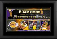 """Los Angeles Lakers Framed 10"""" x 18"""" 2020 NBA Champions Collage"""