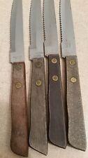 Vintage 4 Stainless Steel Taiwan Serrated Steak Knives 8 1/4in Long