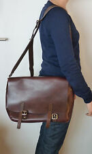 M0851 Cartable Sac en cuir bordeaux / Leather Messenger Bag M0851
