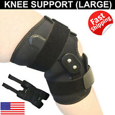Adjustable Hinged Knee Brace Patella Compression Support Relief Powerlifting L