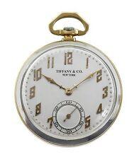 Vintage 1920's Tiffany & Co.18k & Platinum Pocket Watch by C.H.Meylan Cressarrow