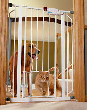 Extra Tall Tallest Big Walk-Thru Gate Baby Pet Cat Dog Door Barrier Fence Jumper