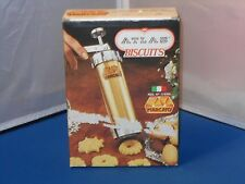 Vintage Mercato Atlas Biscuits Cookie Maker Press With Box Made In Italy!