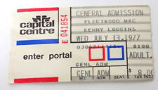 Fleetwood Mac Kenny Loggins Ticket July 13, 1977 Capital Centre Landover Md