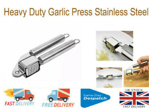 Heavy Duty Garlic Press Crusher Tools Stainless Steel Kitchen Tool Gadget