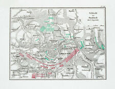 1857 Smolensk Russia Napoleon Russlandfeldzug Kupferstich-Plan