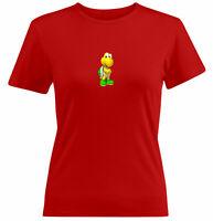 Juniors Girl Women Tee T-Shirt Gift Print Cartoon Cute Turtle Koopa Mario Kart