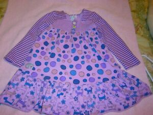 NAARTJIE ( TODDLER GIRL SIZE 5T DRESS ) LILAC W. POLKA DOTS