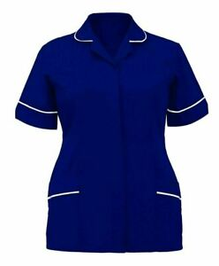 Womens Healthcare Hospital Medical Nurse Collared Ladies Tunic Dress Uniform