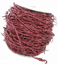 Leather Fake barbed Wire Cord  Red