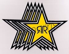 NEW (5) Rockstar Energy Star Decals Stickers LOT Official Authentic Merchandise