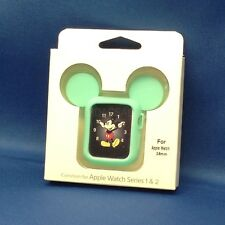 NEW! SILICONE MOUSE EARS CASE FOR APPLE WATCH SERIES 1, 2, 38mm, GREEN