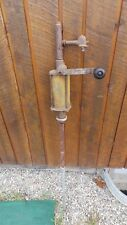 Vintage Hand Crank Gas Oil  Pump with Wooden Handle